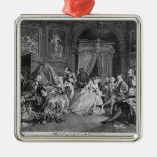 Mariage un mode de La, plat IV, la toilette, 1745 Ornement Carré Argenté