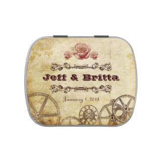 Mariage victorien de Steampunk d'or antique de Boites Jelly Belly
