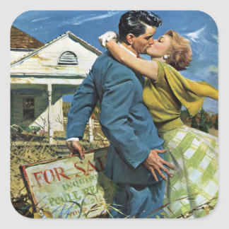 Mariage vintage, Chambre d'achat de nouveaux Sticker Carré