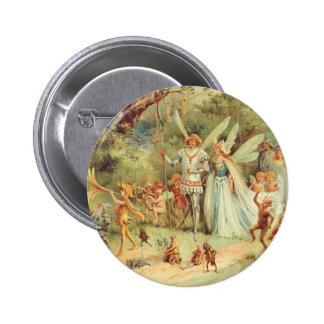 Mariage vintage de Thumbelina et de prince Badge Rond 5 Cm