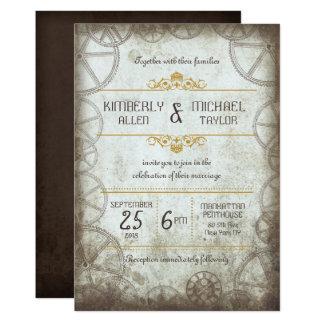 Mariage vintage industriel de Steampunk Carton D'invitation 12,7 Cm X 17,78 Cm