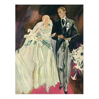 Mariage vintage, jeune mariée et Goom, nouveaux ma Cartes Postales