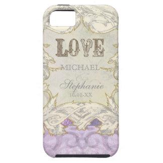 Mariage vintage moderne d'amour de Flourish de rem Coque Case-Mate iPhone 5