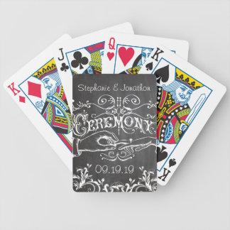 Mariage vintage personnalisé de tableau cartes à jouer