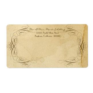Mariage vintage souillé par thé 1 - étiquettes