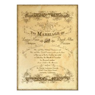 Mariage vintage souillé par thé 2 - invitation