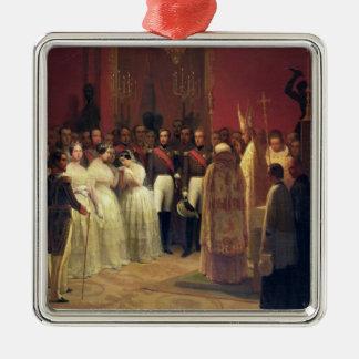 Mariages de la Reine Isabella II Ornement Carré Argenté