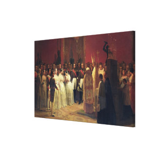 Mariages de la Reine Isabella II Toile Tendue