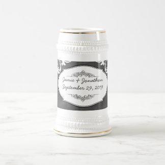 Mariages de typographie de tableau chope à bière