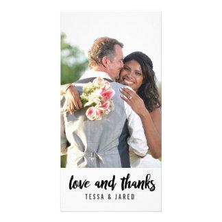 MARIAGES du carte photo | de Merci