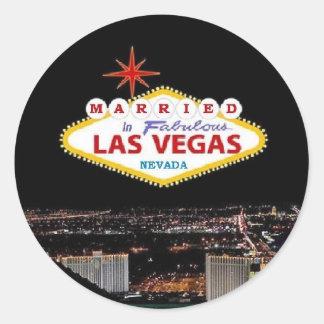 MARIÉ à Las Vegas fabuleux, autocollant du Nevada