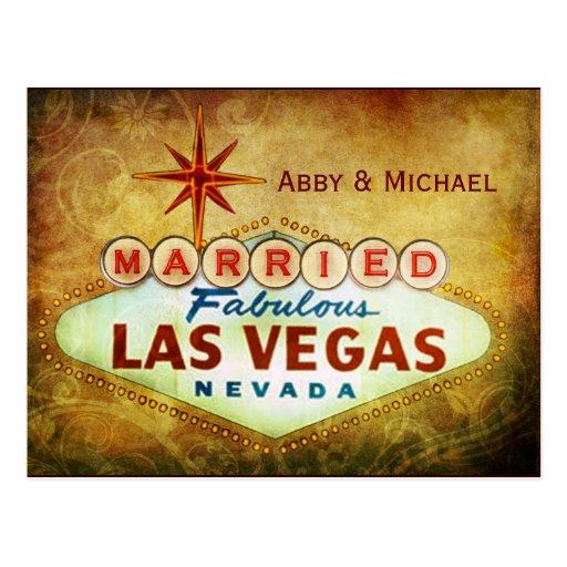 Marié à LAS VEGAS fabuleux Carte Postale