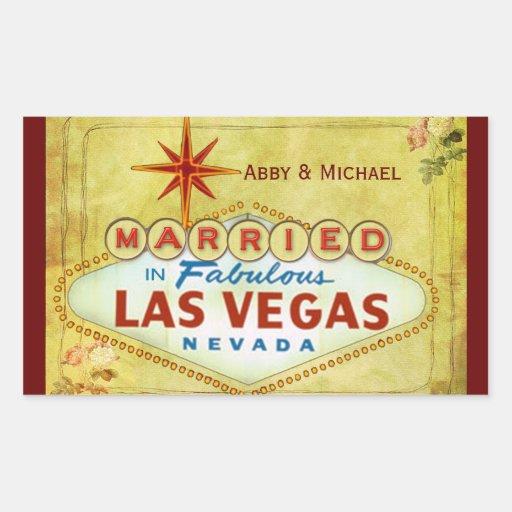 Marié à Las Vegas fabuleux - cru Autocollants
