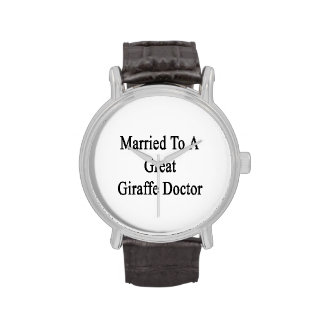 Marié à un grand docteur de girafe montres cadran