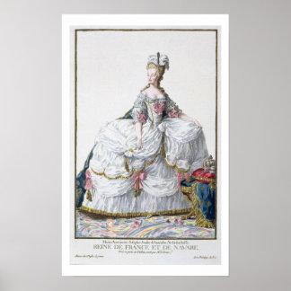 Marie Antoinette (1752-93) de 'DES Estam de Receui Affiches
