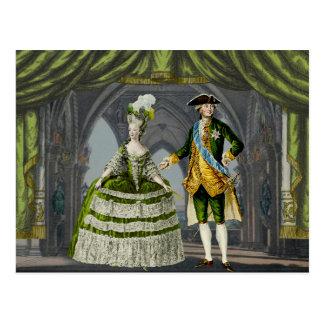 Marie-Antoinette and Louis XVI - le Green Carte Postale