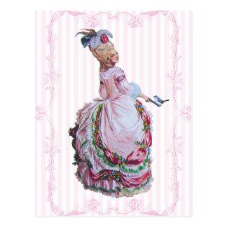 Marie Antoinette en cartes postales roses