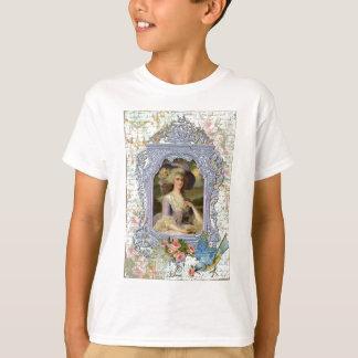 Marie Antoinette et copie d'art d'oiseau bleu T-shirt