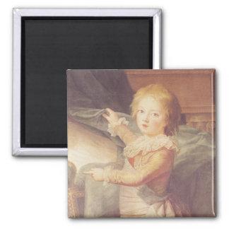 Marie-Antoinette et ses enfants Magnet Carré