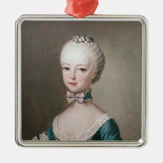 Marie Antoinette Ornement Carré Argenté