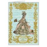 MARIE ANTOINETTE versent des bonbons de Cerises Carte De Vœux