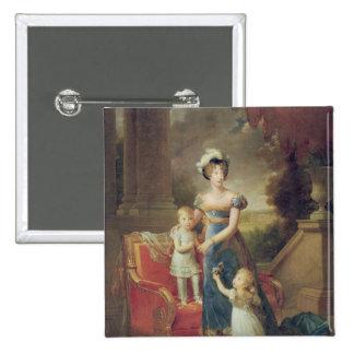 Marie-Caroline de Bourbon avec ses enfants Badges