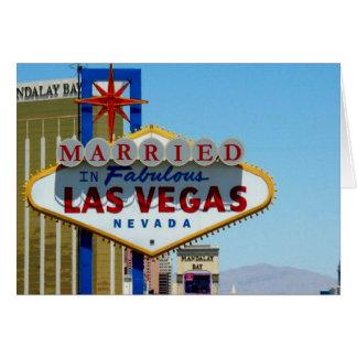 Marié dans la carte de Las Vegas