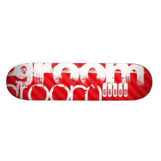 Marié ; Rayures de rouge d'écarlate Planches À Roulettes Customisées
