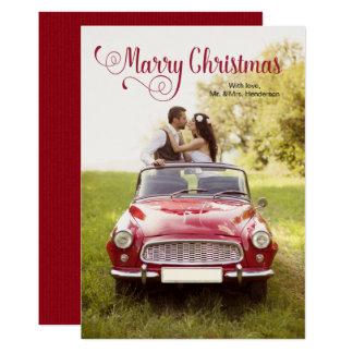 Mariez la carte de Noël de nouveaux mariés