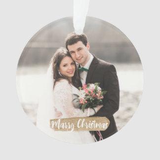 Mariez l'or d'ornement de nouveaux mariés de Noël