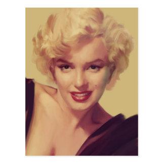 Marilyn dans le noir carte postale