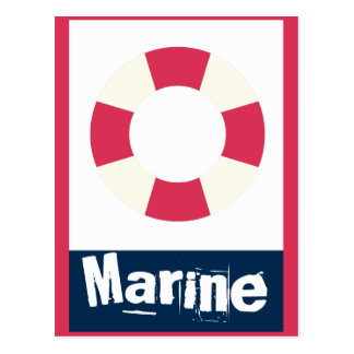 Marin - anneau de vie nautique carte postale