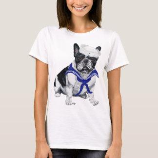 Marin de bouledogue français t-shirt