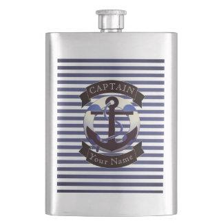 Marin de capitaine de la marine marchande flasques