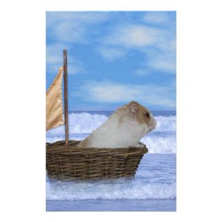 Marin de hamster papier à lettre personnalisé