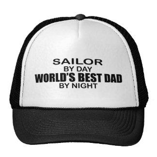 Marin - le meilleur papa du monde par nuit casquettes
