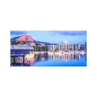 Marina de Townsville, art d'horizon de ville, Toile