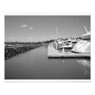 Marina noire et blanche photographie d'art