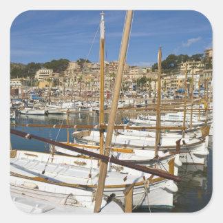Marina, Port de Soller, côte ouest, Majorque, Sticker Carré
