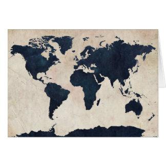 Marine affligée de carte du monde