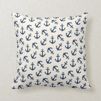 Marine Aweigh de motif d'ancres nautiques Coussin