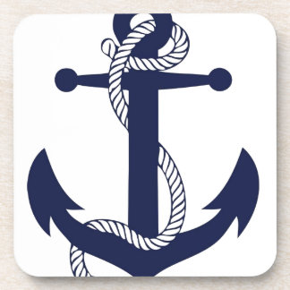 Marine d'ancre de navigation dessous-de-verre