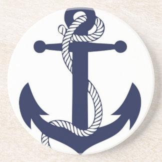 Marine d'ancre de navigation dessous de verres