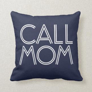 Marine de la maman | d'appel et carreau décoratif coussin