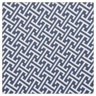Marine et //blanc tout motif grec de très bon goût tissu