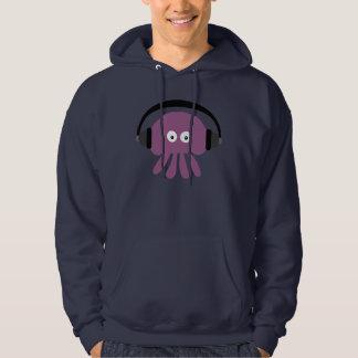 Marine géniale Hoody de méduses du DJ de pourpre Veste À Capuche