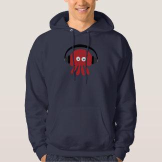Marine géniale Hoody de méduses du DJ de rouge Veste À Capuche
