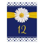 Marine, jaune, cartes blanches de Tableau de Carte Postale