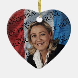 Marine Le Pen Ornement Cœur En Céramique