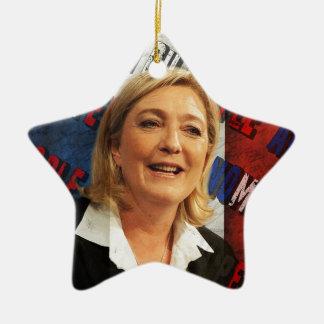 Marine Le Pen Ornement Étoile En Céramique